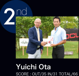 Yuichi Ota SCORE:OUT/35 IN/31 TOTAL/66