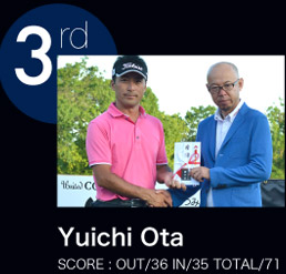 Yuichi Ota SCORE:OUT/36 IN/35 TOTAL/71