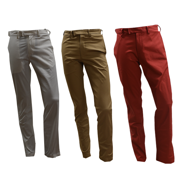 DCM16S005 Men's Long Pants three-dimensional pocket