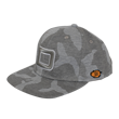 DCCP708 Big D Flat Cap Camo/Light Gray