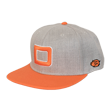 DCCP708 Big D Flat Cap Heather Gray/Orange