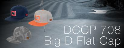 DCCP 708 Big D Flat Cap