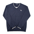 DCM18A001 V-Neck Sweater【DOCUS DESIGN】Navy