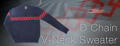 (日本語) DOCUS D CHAIN V NECK SWEATER